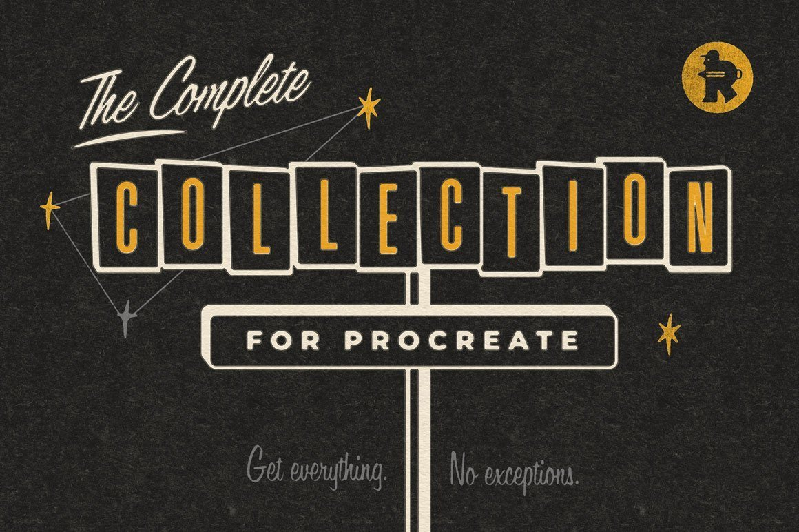 RETRO SUPPLY THE COMPLETE PROCREATE BRUSH COLLECTION